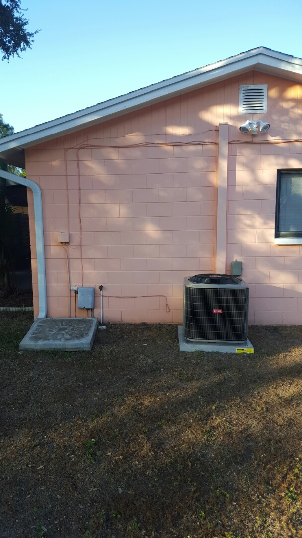Pinellas Park, FL - Bryant heat pump ac system installation.