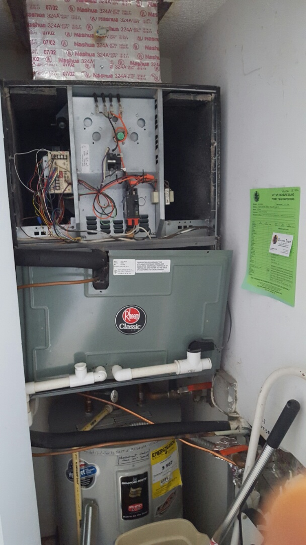 Treasure Island, FL - Rheem ac inspection