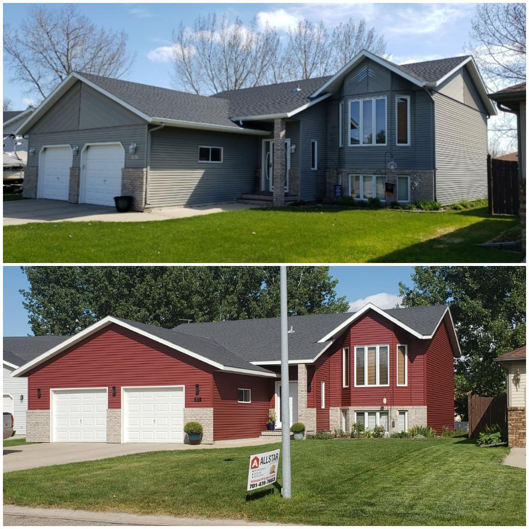 Moorhead, MN - Before and after. Looking to update or improve your home, give us a call.