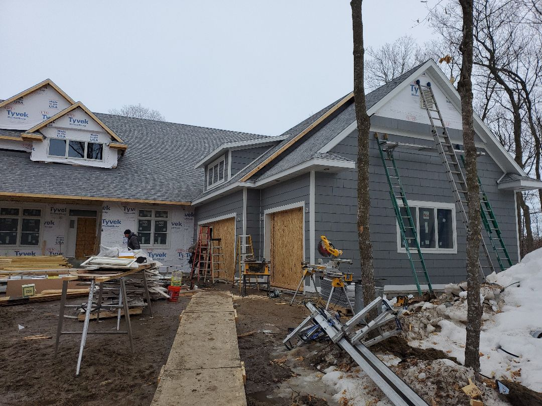 Lake Park, MN - New custom LP exterior to give this lake home a permanent finish