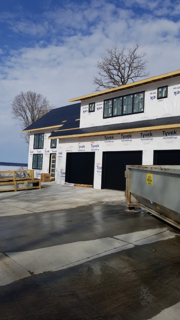 Clitherall, MN - Standing  seam metal roofing on new construction.