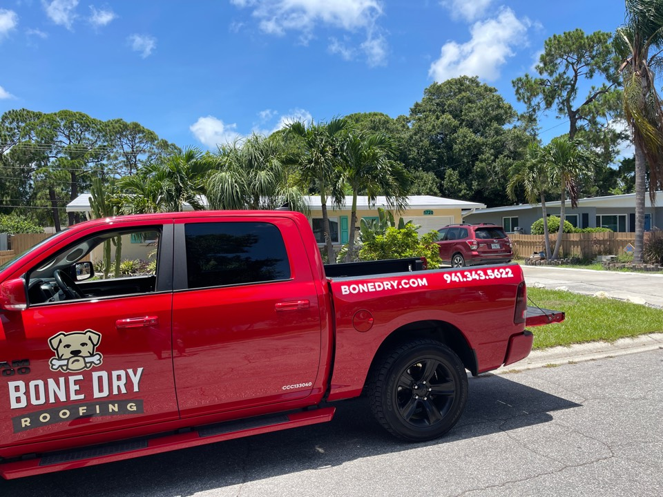 Bradenton, FL - Final roof inspection for our customer   After installing the rolled roofing system.