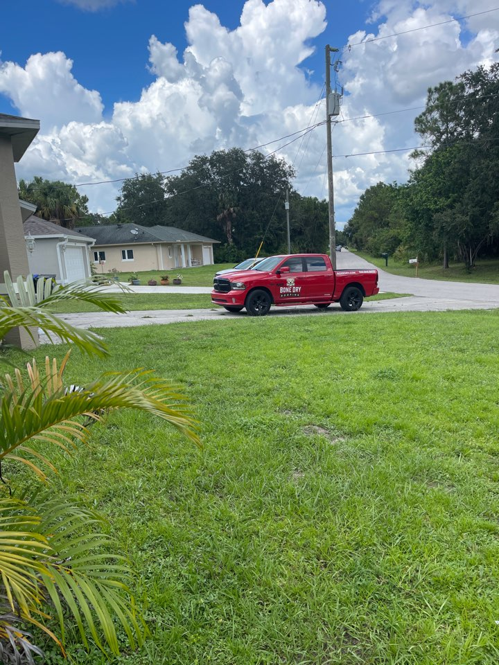 North Port, FL - Final inspection of roof repair and gutter install