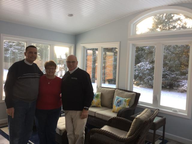 Another happy client on their new 3 season sunroom addition.