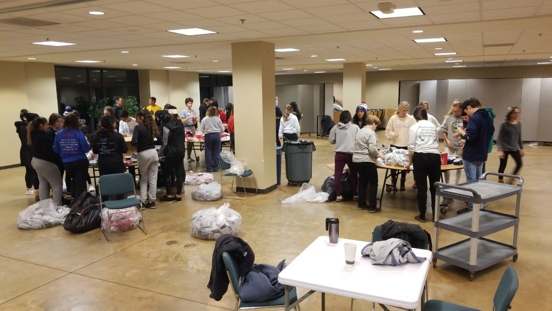 PB & J Outreach: Saturday morning repackaging 1700 pairs of socks for our less fortunate friends in Detroit.  We meet every Saturday morning at 6:00 am at Our Lady Of Good Counsel.  The sites we serve at are Charlotte & Forth and Junction & Vernor.  Along with hot food, and fellowship.  Please Join us