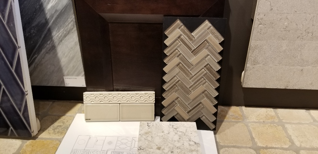 Shopping for backsplash material at Virginia tile - so many choices