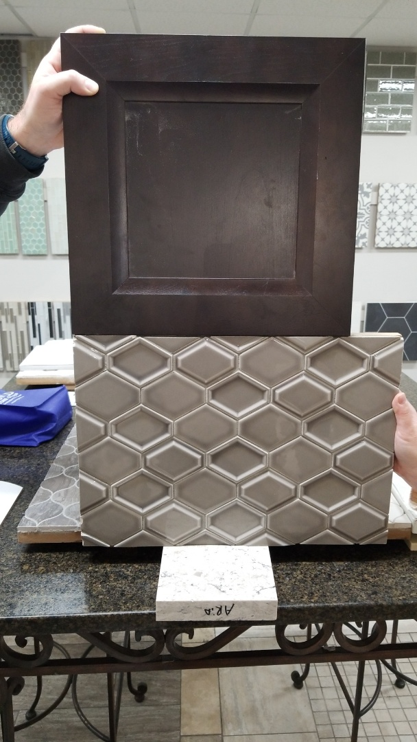 We stopped by Genesee and might have found our backsplash material
