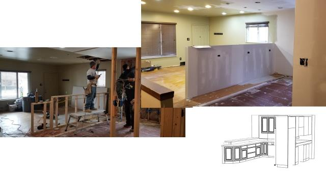 Moving right along. Drywall going up, next phase cabinetry.