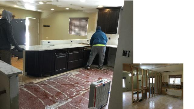 Now the fun begins!  New items are starting to be installed. A newly remodeled kitchen is becoming a reality.