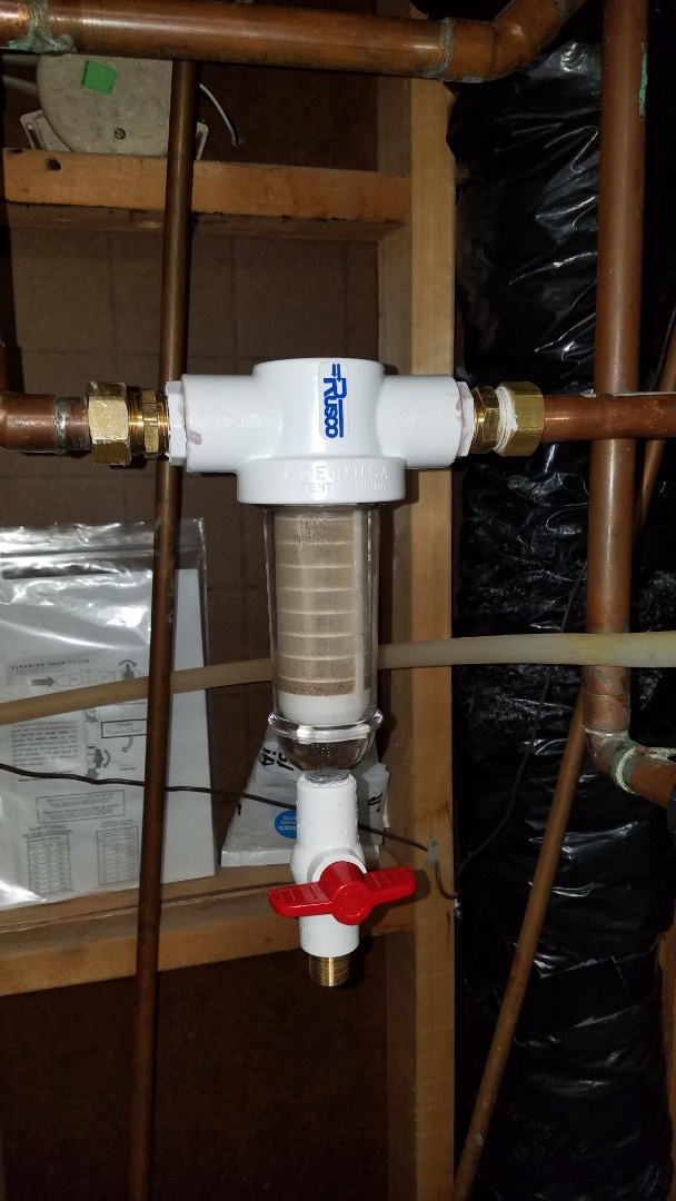 Ham Lake, MN - New sump pump installation. Whole house water filter installed.