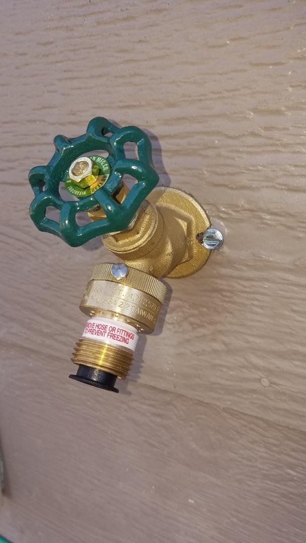 Ham Lake, MN - Lawn faucet repair. Install new lawn faucet.