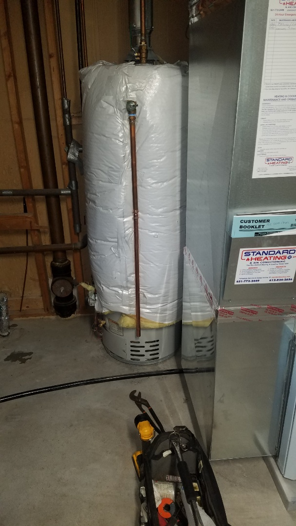 Shoreview, MN - Water heater service.  Fix leaking drain pipe on laundry tub.