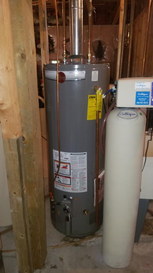 New Rheem water heater installation