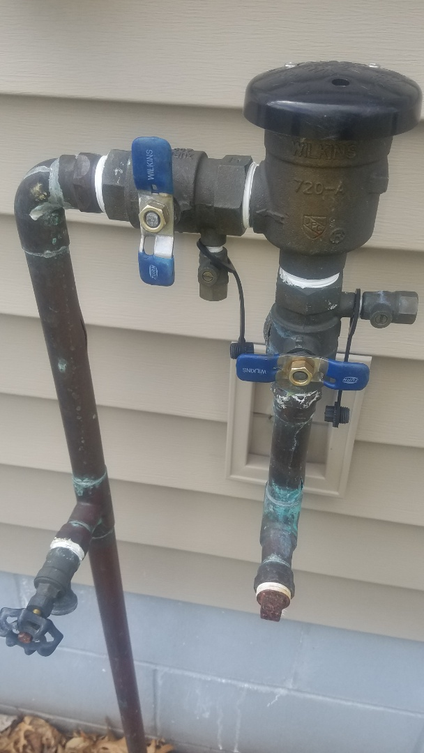 Coon Rapids, MN - Leaking water pipe. Solder leaking fitting to irrigation piping.