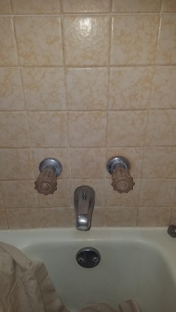 Tub shower valve leaking. Install new Moen shower valve.