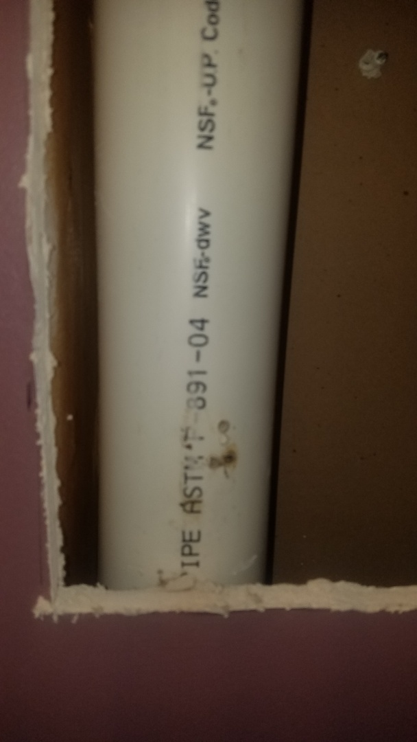 """Leak in drain pipe. Replace leaking section of 3"""" main drain pipe."""