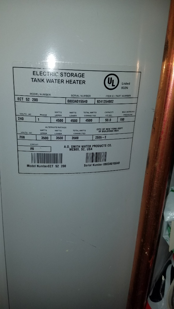 Water heater service.  Drain and flush eletric water heater. Check water softener.