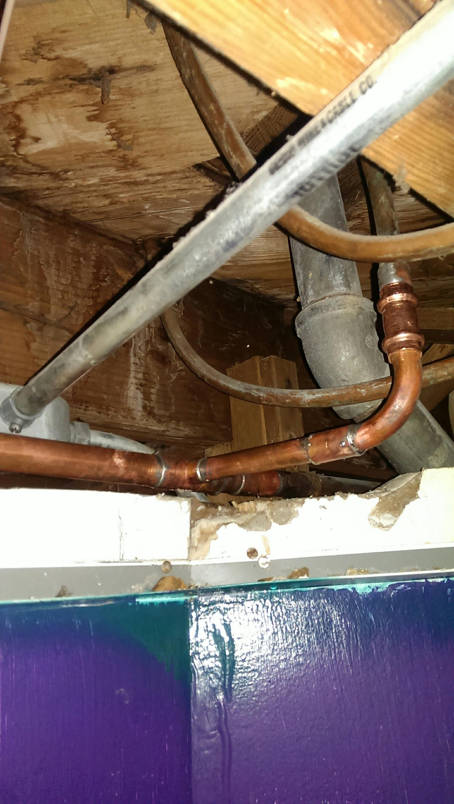 Mounds View, MN - Water pipe repair. Leaking pipe. Saturday plumbing service.