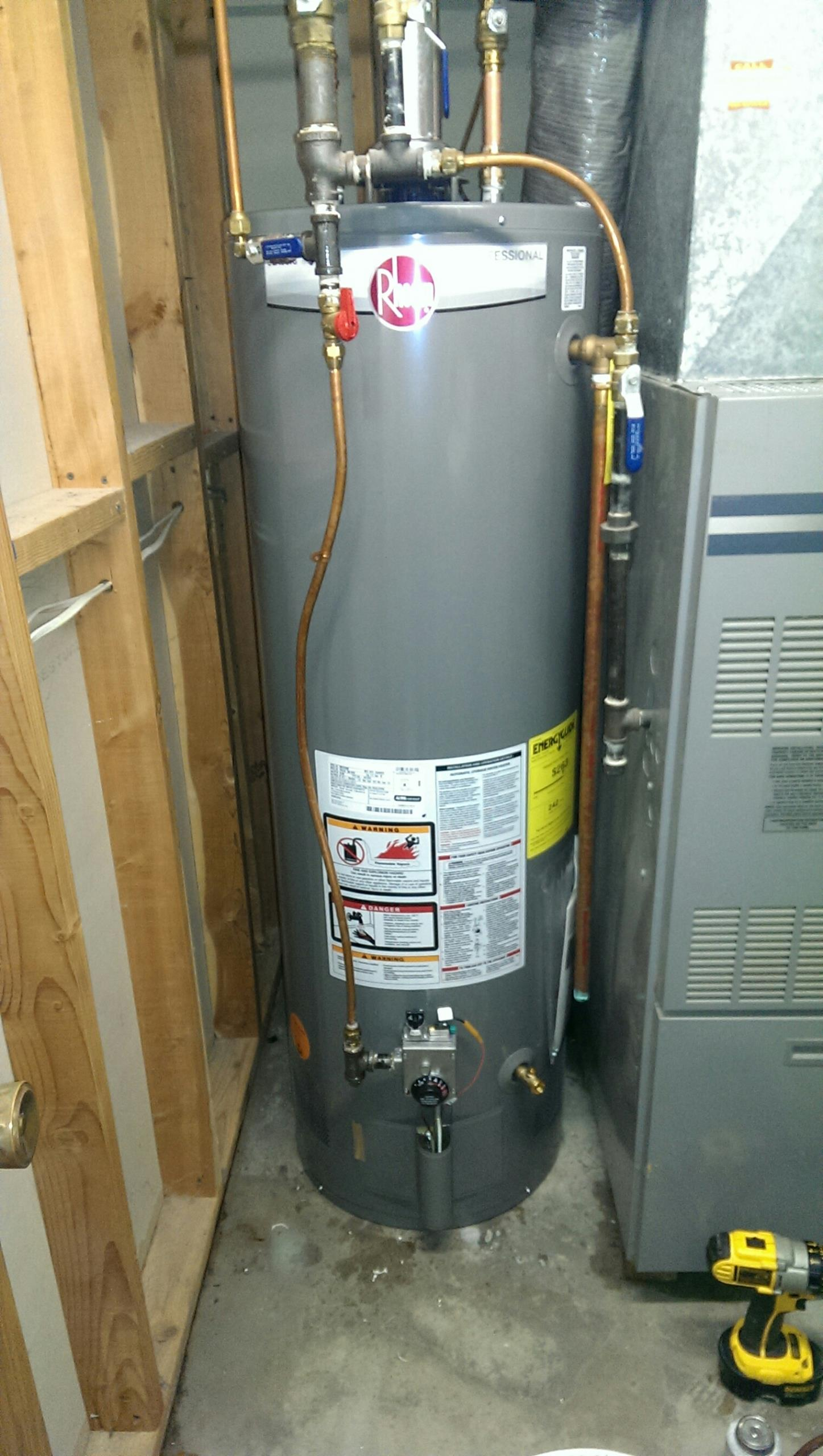 Circle Pines, MN - New water heater.