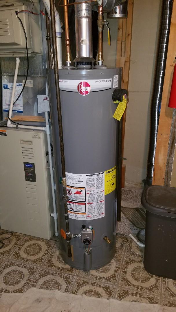 Spring Lake Park, MN - water heater installation.  water pipe repair