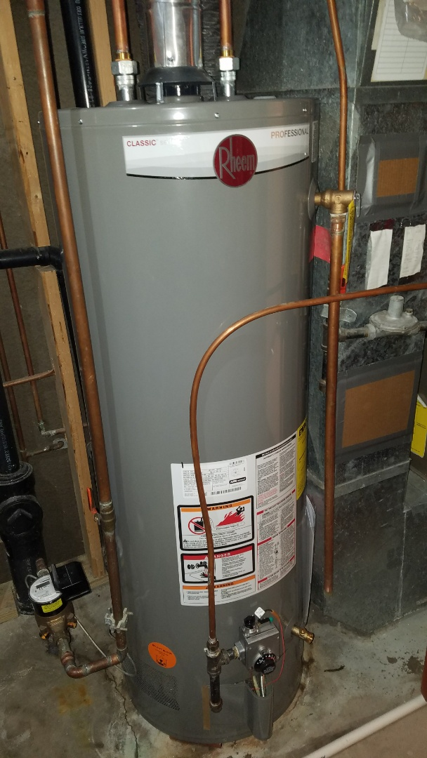 Circle Pines, MN - Water heater leaking. Install new water heater.