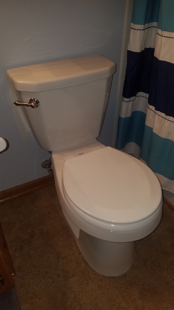 Lino Lakes, MN - Toilet repair.  Install new Gerber toilet.  Install new toilet collar.