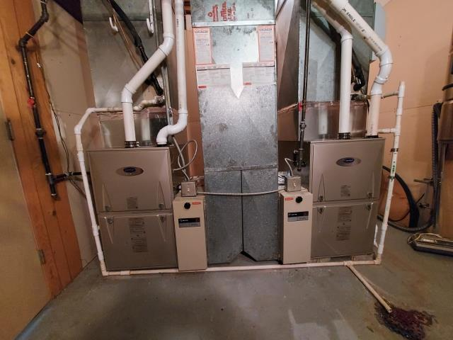 Dune Acres, IN - Installed Two New Carrier Furnaces Today!