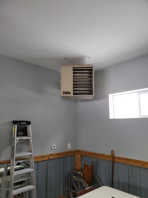 Hebron, IN - Repaired unit heater today