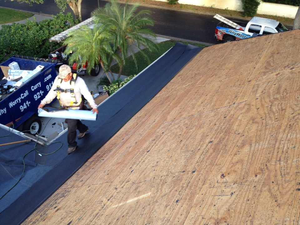Englewood, FL - Tearing off a roof in Boca Royal, Englewood.