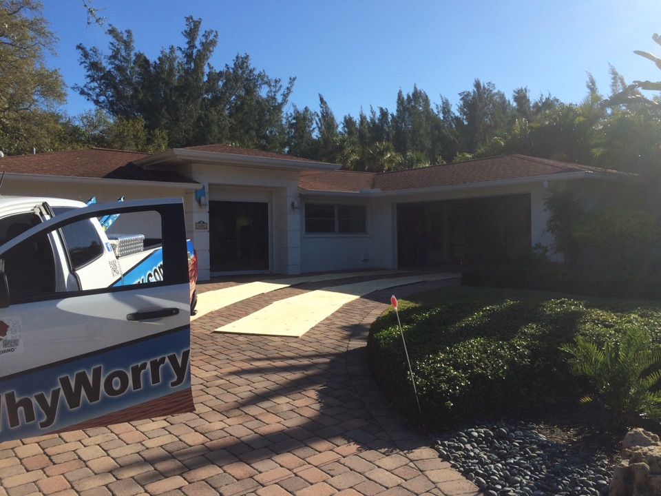Longboat Key, FL - Preparing another reroof on LongBoat Key for tomorrow