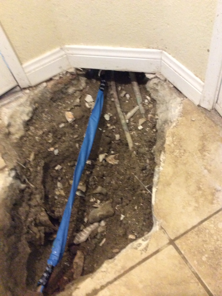 Commerce, CA - Slab leak repair