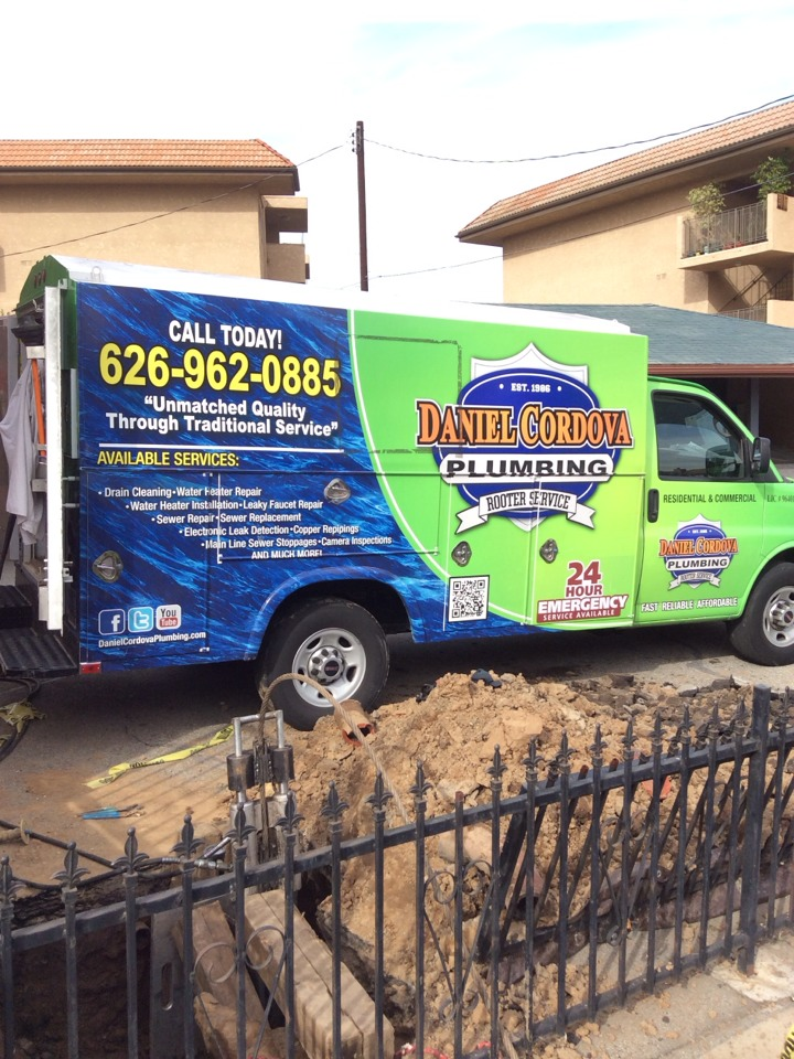 Alhambra, CA - Sewer Line Replacement by Trench-less Pipe Burst Method With CleanOut Installation In Alhambra