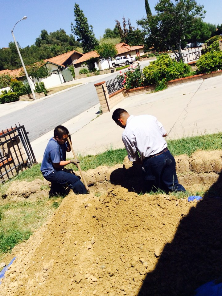 Walnut, CA - Water Line Service Excavation/Preparation