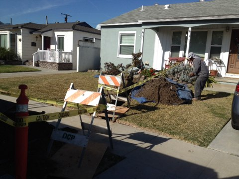 Whittier, CA - Installing gas service in city of whittier