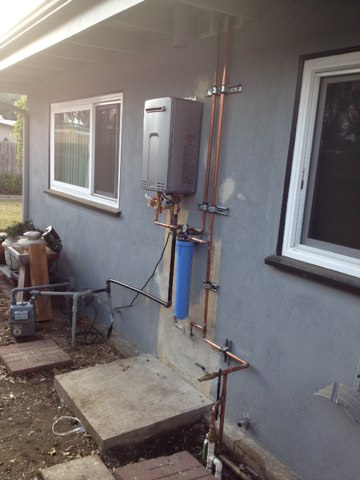 Glendora, CA - Repiping home with tankless water heater in Glendora
