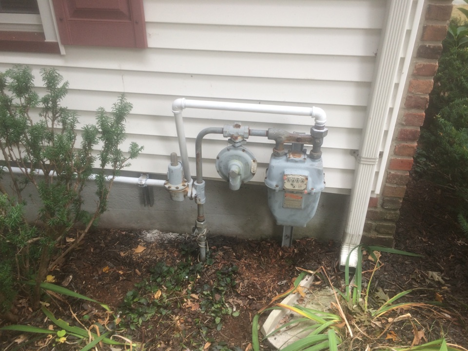 Wharton, NJ - Run gas pipe for oil to gas conversion of hydronic boiler.