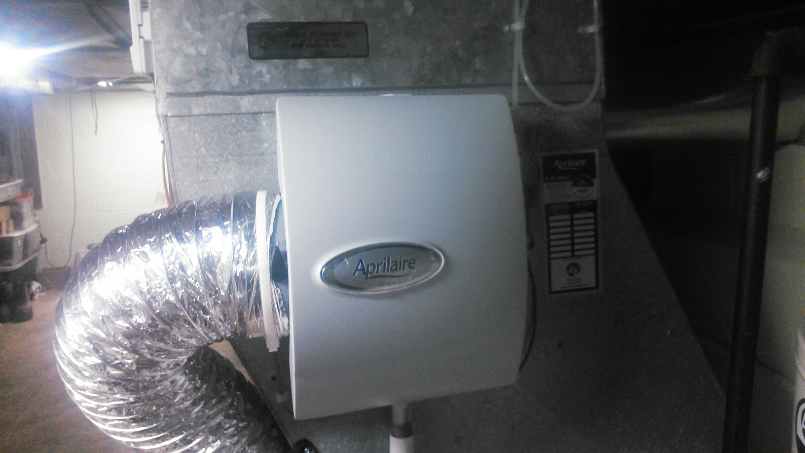 Summit, NJ - Install Aprilaire 600 humidifer