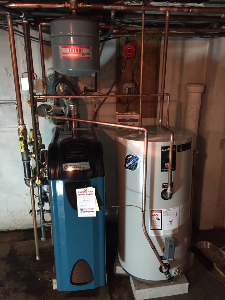 Roxbury Township, NJ - Oil to gas conversion high efficiency Burnham ES2 boiler and indirect hot water heater in Roxbury, NJ