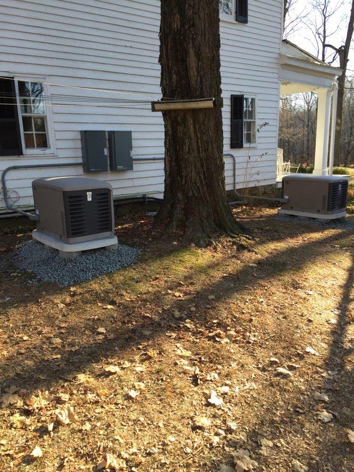 Washington Township, NJ - Start installation of Kohler automatic home back up generator.