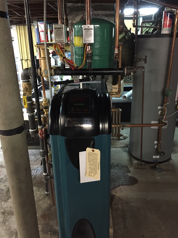 Dover, NJ - Oil to gas conversion of a Burnham ES2 hydronic boiler in Rockaway, NJ.