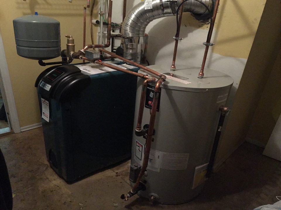 Roxbury Township, NJ - Oil to gas conversion of a Burnham ES2 high efficiency boiler and indirect hot water heater in Roxbury, NJ.