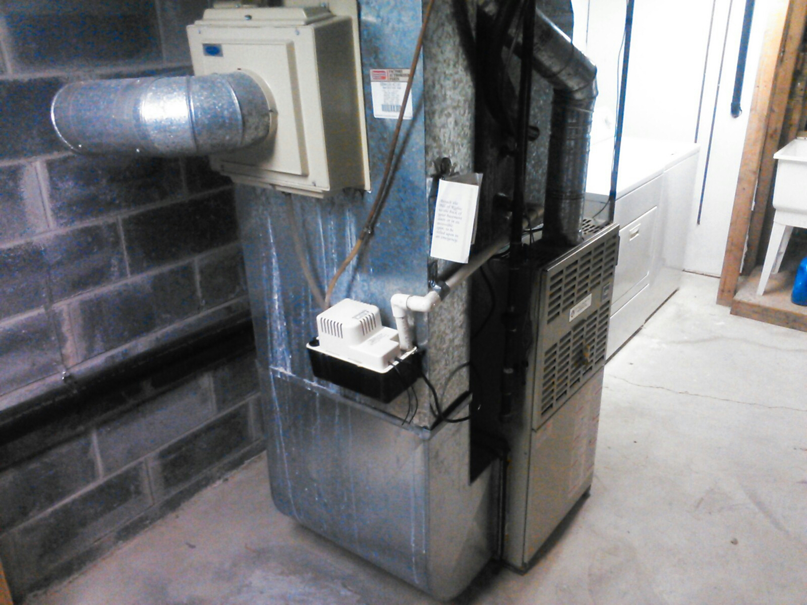 Hackettstown, NJ - Service carrier gas furnace and humidifier.