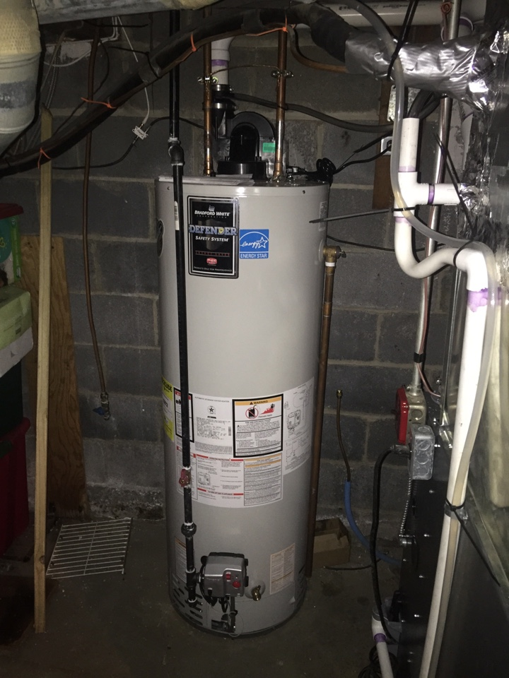 Mine Hill Township, NJ - Convert from oil to gas.  Install bradford white gas hot water heater