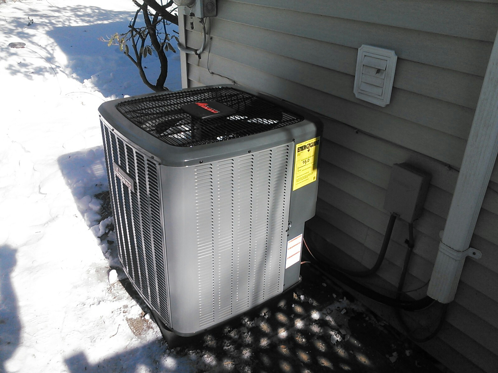 Denville, NJ - Install 16 seer two stage Amana condenser.