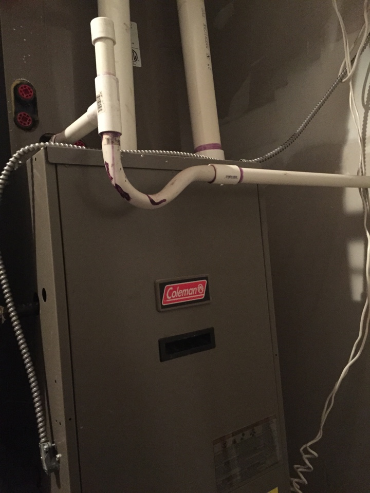 Wharton, NJ - Heating service call. Repair Coleman warm air natural gas furnace. Replace circuit board and transformer.