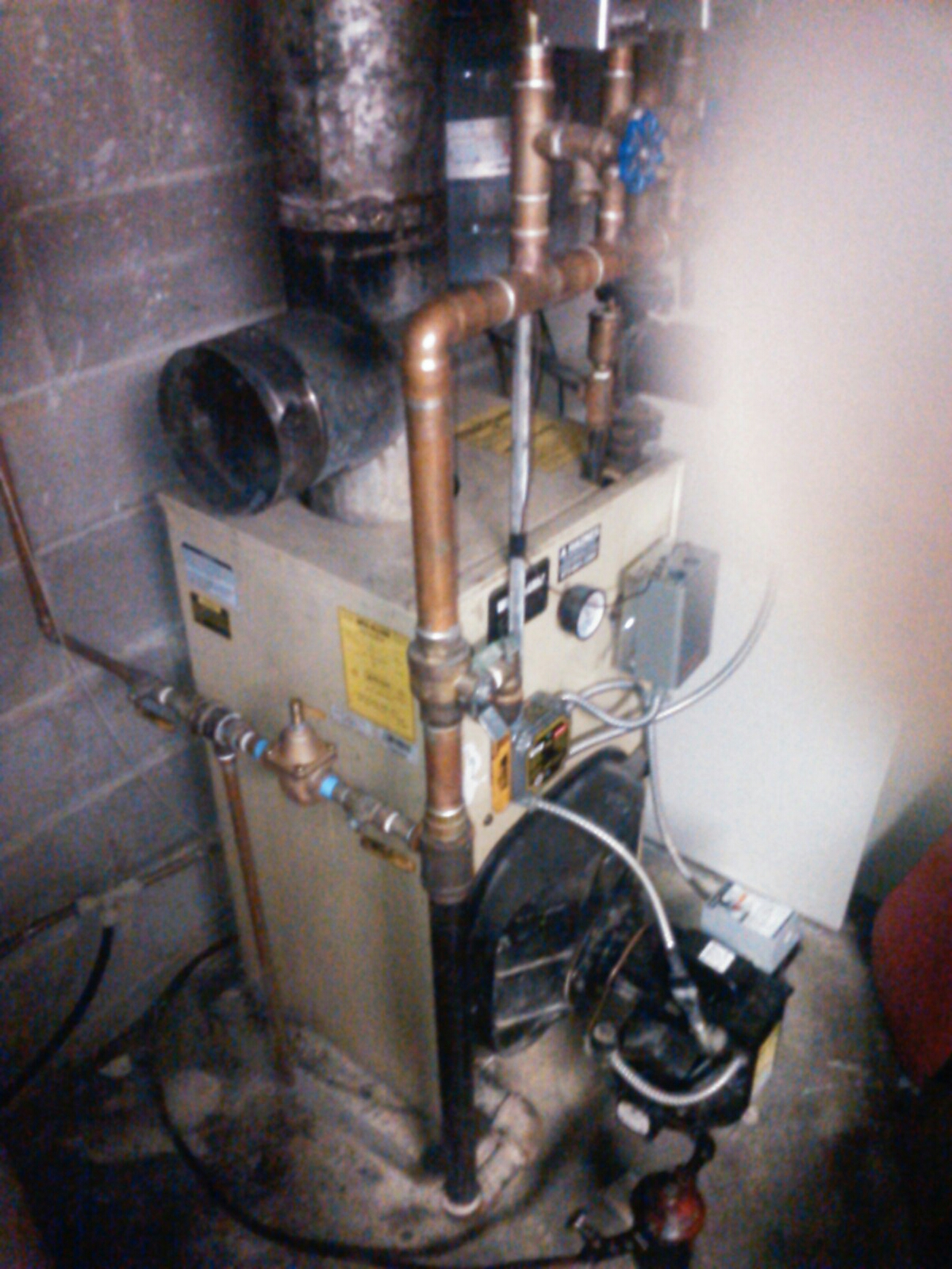 Hopatcong, NJ - Replace Honeywell zone valve on Weil McLain oil boiler.
