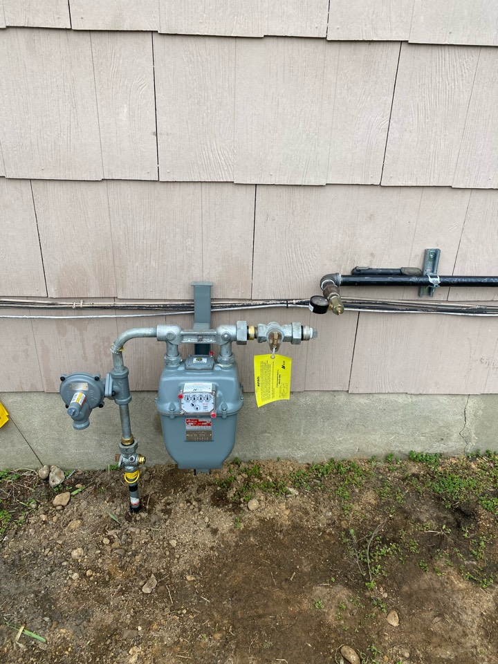 Run gas line to oil to gas conversion