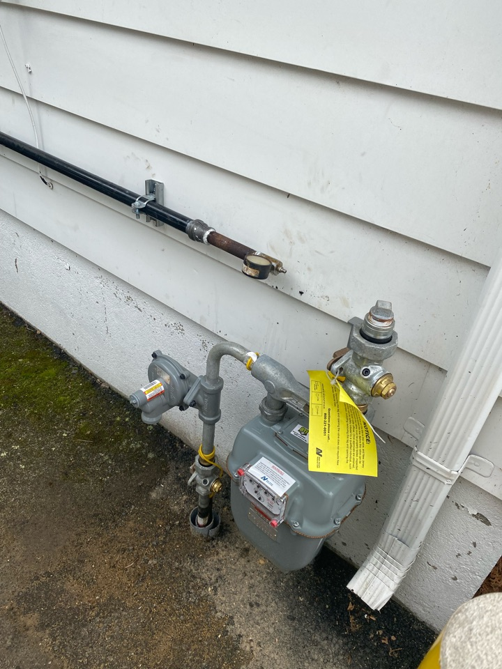 Run gas line for oil to gas conversion