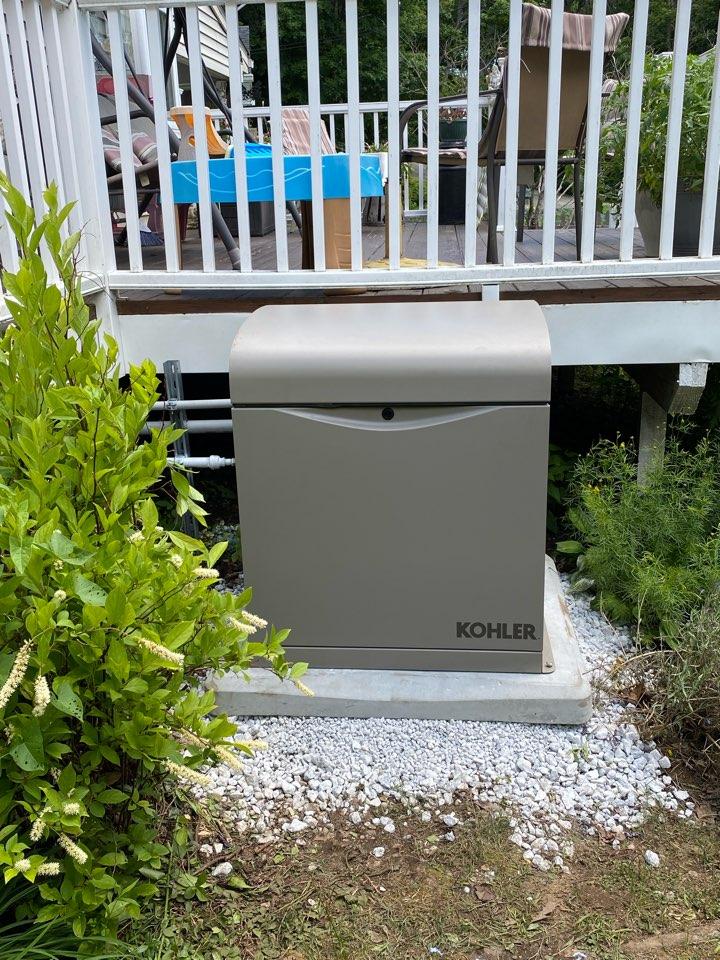 Installation of a Kohler home back up generator.