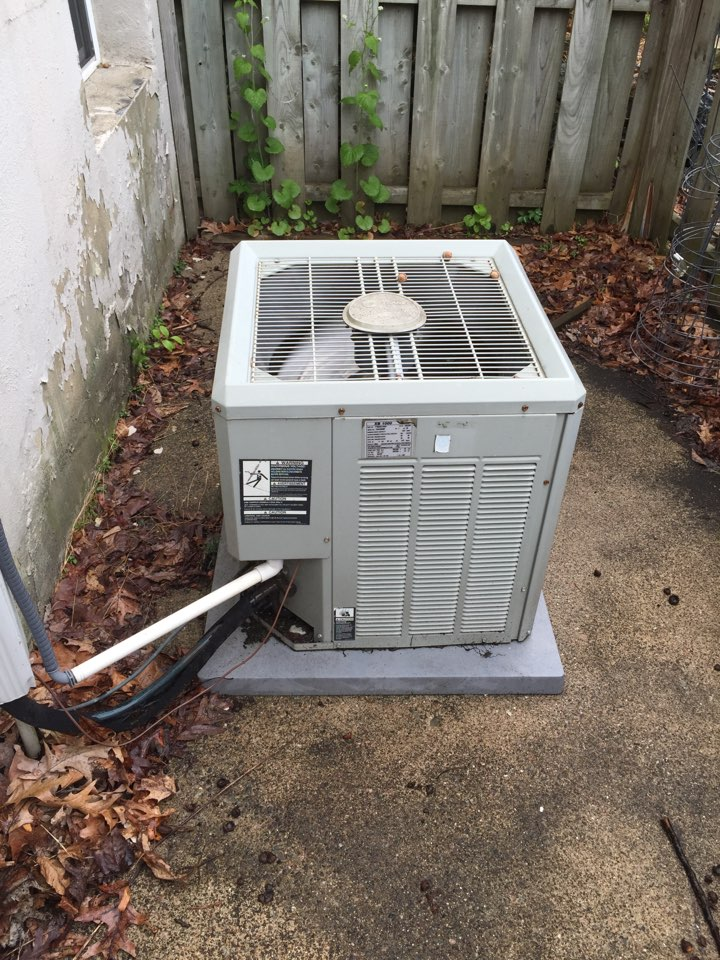 Stanhope, NJ - Air conditioning service call. Unit blowing warm air. Found ac unit low on refrigerant. Added r22 refrigerant and check system.